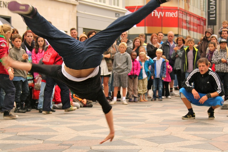 Photo Hungarian Break Dancers Stroget Street Copenhagen