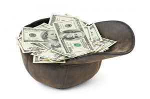 Cap with money