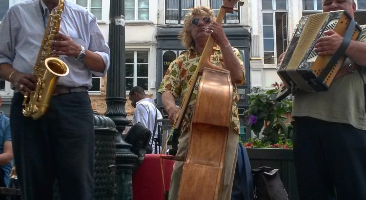 Busking in Brussels