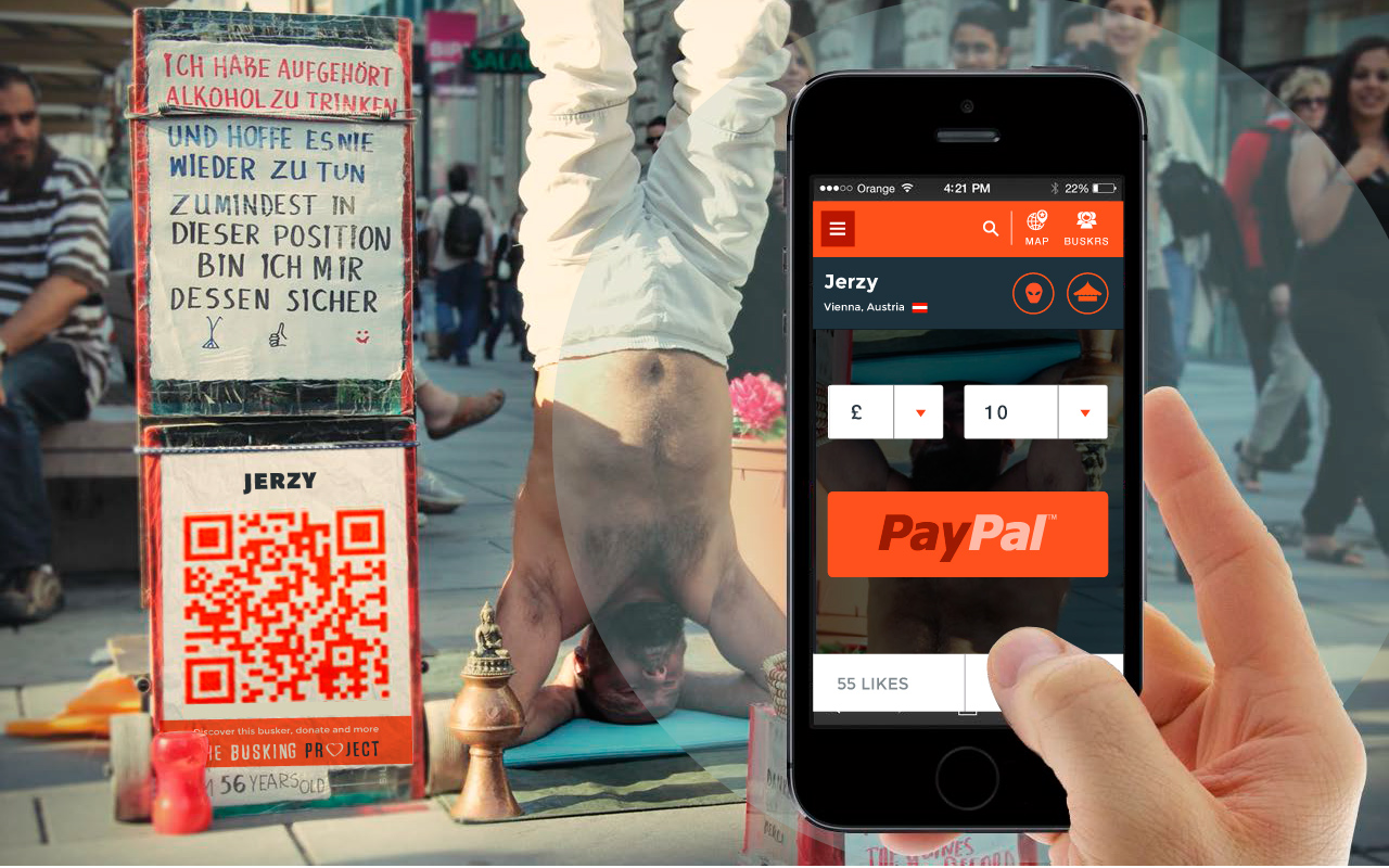 Cashless Payments are the future of busking.