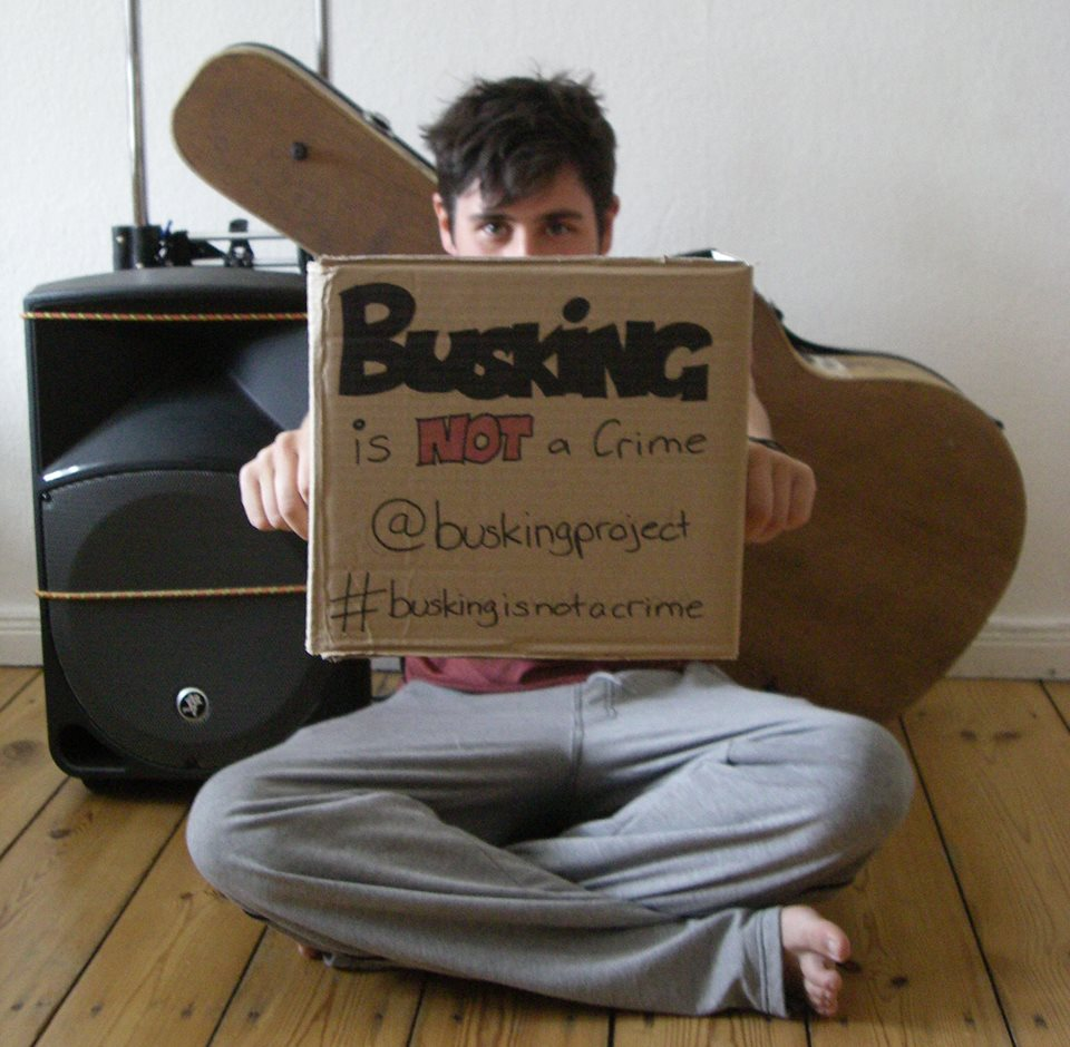 buskers protest travel ban