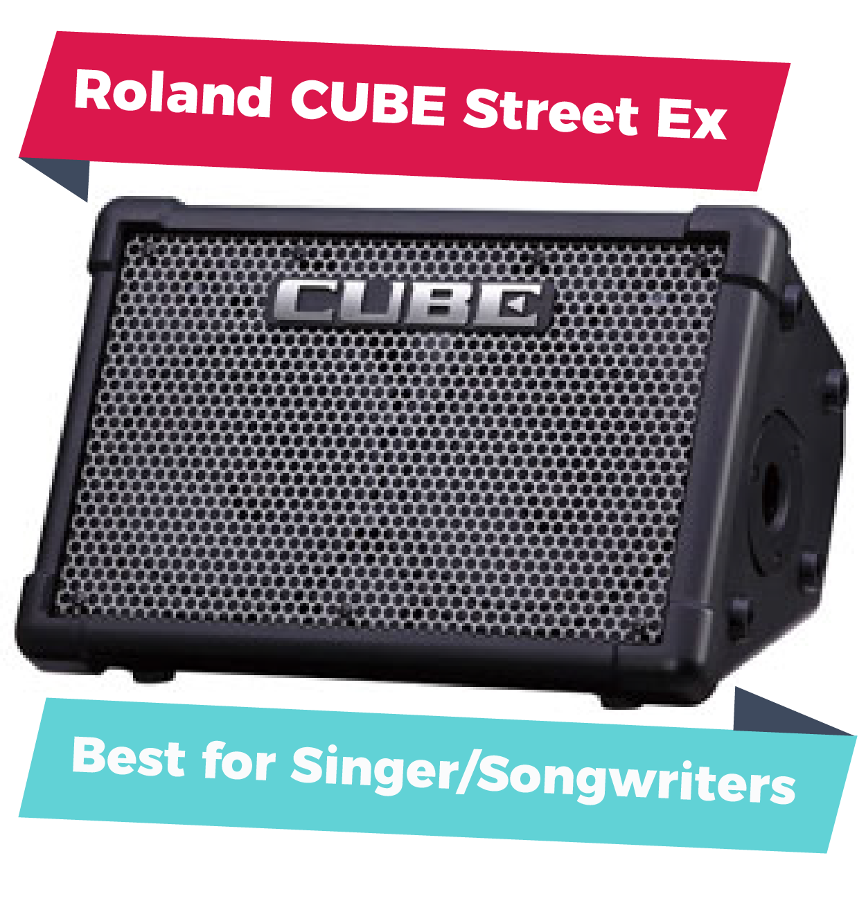 Roland Street CUBE Ex, one of the best amps for busking for singer-songwriters