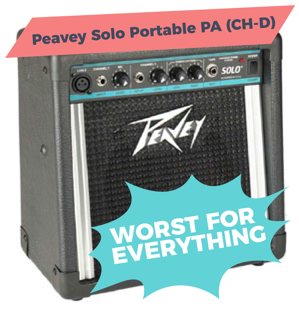 Peavey Solo Portable PA (CH-D), definitely NOT one of the best amps for busking